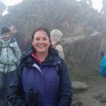 Pauline and family climb Snowdon